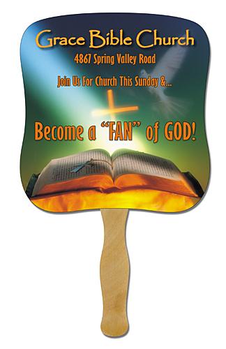 Jesus Fans Church Fans Paper Hand Fans